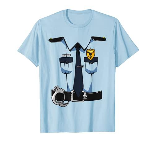 Police Uniform DIY Easy Costume Halloween Adults Kids Police T-Shirt