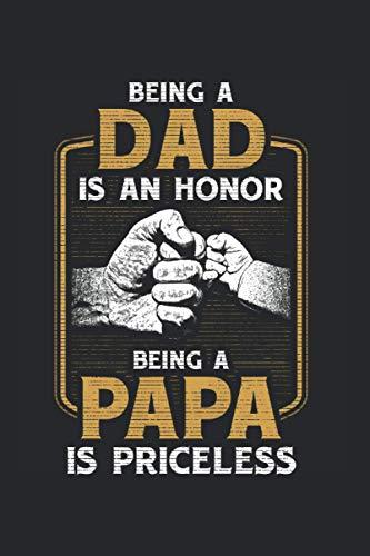 Being a Dad: Vater sein Ehre Vater Sohn Sohn Fauststoß Beziehung Notizbuch DIN A5 120 Seiten für Notizen...