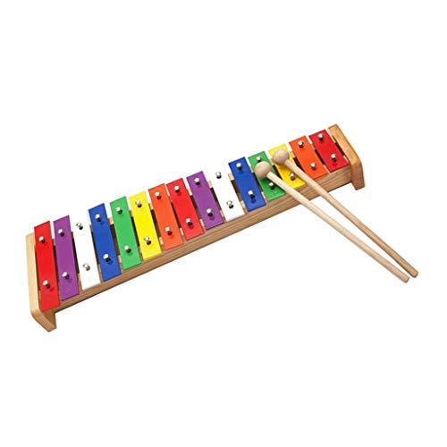 Perfeclan 15 Noten Glockenspiel Xylophon Spielzeug für Kinder