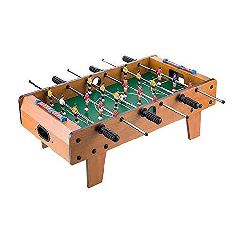 CKAN Multifunktionsspieltisch Tragbar Holz-Optik Beinhaltet Spieler, 2 Bälle, Integral Bar, Tischkicker...