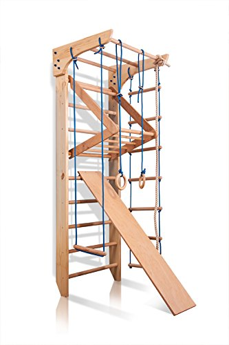 Sportgerät Turnwand Klettergerüst Kinder-3-240 Holz Kinder Gym...