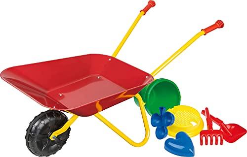 Idena - Metallschubkarre für Kinder ab 24 Monaten in rot gelb, ca. 78...