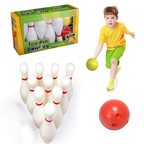 globalqi Kinder Bowling Set, Kegelspiel Spiel, Drinnen Draußen...