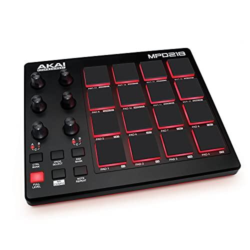AKAI Professional MPD218 - MIDI Pad Controller / Drum Pad Machine /...