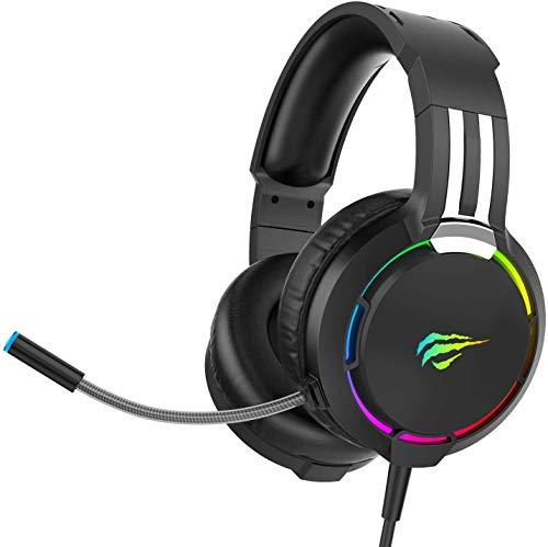 havit Headset für PS4, RGB Gaming Headset für PC, PS5, Xbox One,...