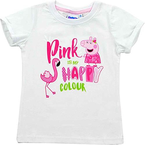 Peppa Wutz – Mädchen T-Shirt Pink is My Happy Colour Gr. 110/116...