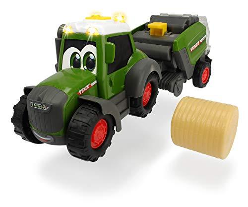Dickie Toys Happy Fendt Hay Baler, Traktor mit Heuballenpresse,...