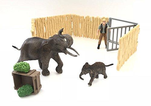 Schleich 72111 Zuhause für Elefanten
