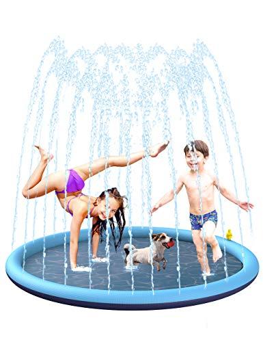 BOIROS Splash Pad wasserspielzeug, 170CM Sprinkler...