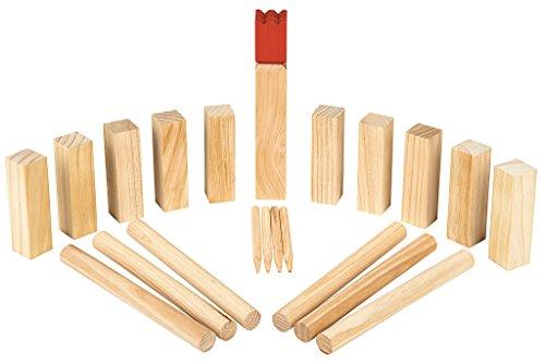 Moses 92095 Wooden Game Kubbs - Wikingerspiel  ...