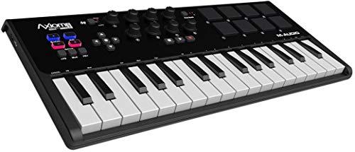 M-Audio Axiom AIR Mini 32 - Kompakter MIDI USB Keyboard, Pad Controller + ProTools | First M-Audio Edition,...