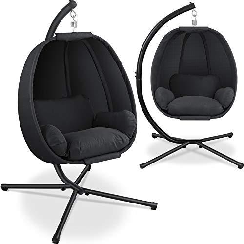 KESSER® Luxe Hängesessel mit Gestell + weicher Sitzkissen,...