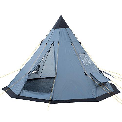 CampFeuer Tipi Zelt Spirit für 4 Personen | Firstzelt | 3.000 mm...