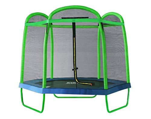 SixBros. SixJump Gartentrampolin für Kinder 2,10m, Outdoor-Trampolin...