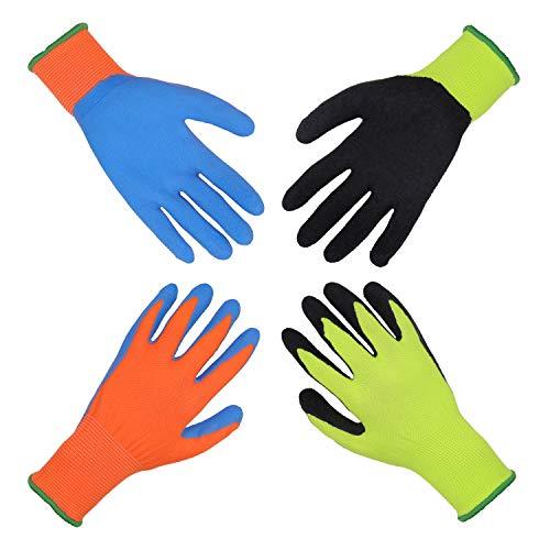 HANDLANDY Gartenhandschuhe für Kinder von 3-13 J.A,Gummihandschuhe...