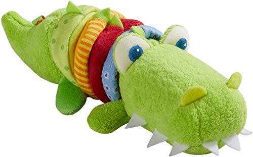 HABA 304759 - Ratterfigur Kroko, Baby-Spielzeug aus Stoff mit...