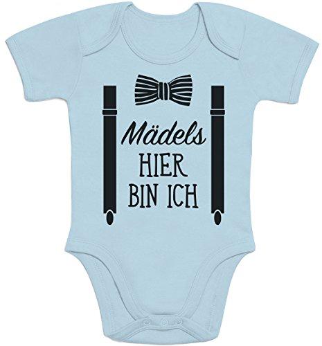 Shirtgeil Mädels, Hier Bin Ich! - Geschenk für Neugeborene Jungen...
