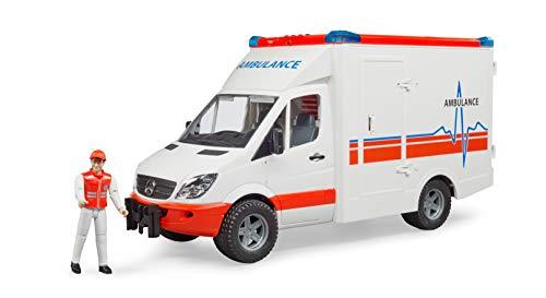 Bruder 02536 - Mercedes-Benz Sprinter Ambulanz mit integriertem Light...