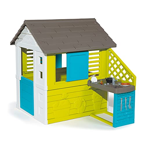 Smoby 810711 – Pretty Haus - Spielhaus für Kinder für drinnen und...