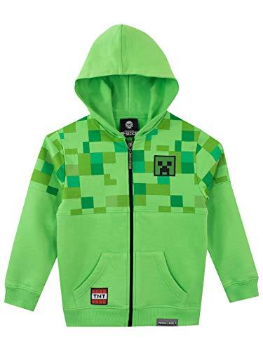 Minecraft Jungen Creeper Hoodie Grün 134