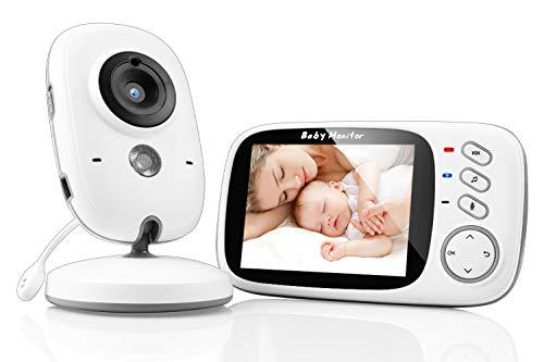 SYOSIN Babyphone mit Kamera, Video Überwachung Baby Monitor Wireless 3.2' TFT LCD Digital dual Audio...
