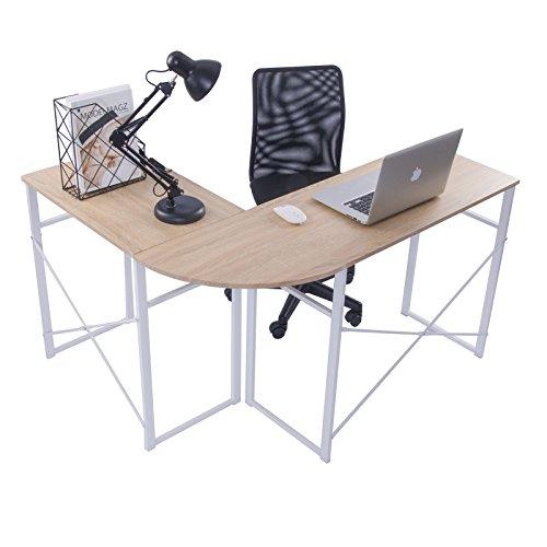 WOLTU® Schreibtisch TSG24hei L-Form Eckschreibtisch...
