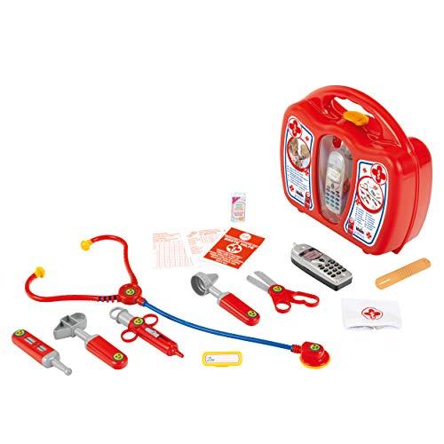 Theo Klein 4350 Arztkoffer mit Handy I Robuster Koffer mit Stethoskop,...