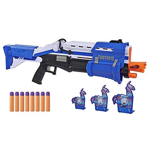 Nerf TS-R Blaster und Llama Ziele – Pump-Action Blaster, 3 Llama...