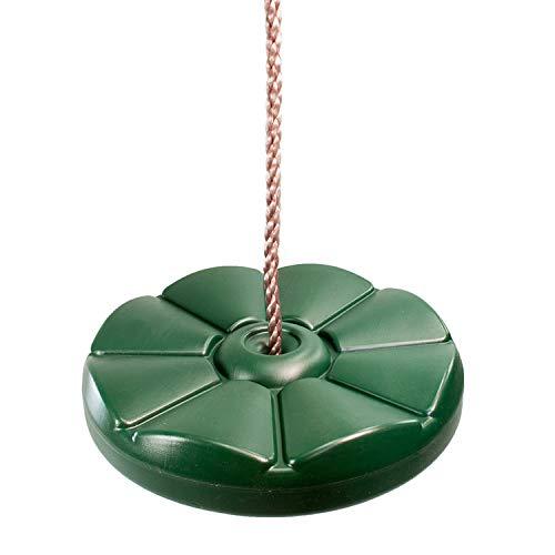Tellerschaukel Grün mit Seil Verstellbare Schaukelsitz