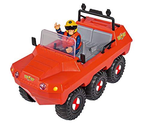 Simba 109251051 - Feuerwehrmann Sam Hydrus Amphibienfahrzeug, mit Sam Figur, schwimmt auf dem Wasser, 20cm,...