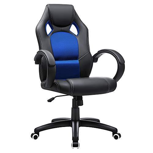 SONGMICS Racing Stuhl Bürostuhl Gaming Stuhl Chefsessel Drehstuhl PU,...