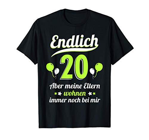 20. Geburtstag Männer Frauen 20 Jahre Party Deko Geschenk T-Shirt