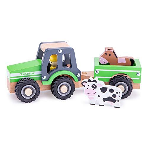 New Classic Toys - 11941 - Spielfahrzeuge - Traktor mit Anhänger,...