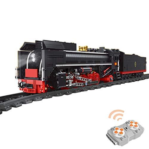 OviTop Technik Zug Eisenbahn 1552 Teile Technic Güterzug Technik Ferngesteuert Zug mit Motor, Fernbedienung...