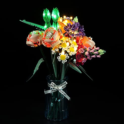 Hosdiy Beleuchtung Set Kompatibel mit Lego 10280 Blumenstrauß, Led...