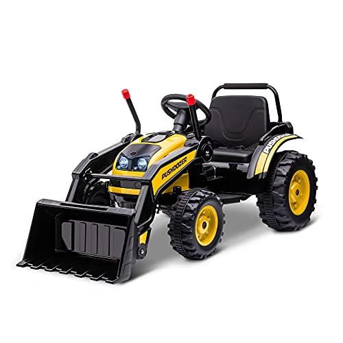 HOMCOM Elektrobagger Sitzbagger für Kinder Geländewagen Traktor...