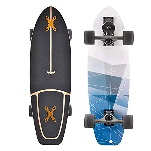 GUANGE CX4 Skateboard, Komplettes Cruiser Funboard Skateboard...