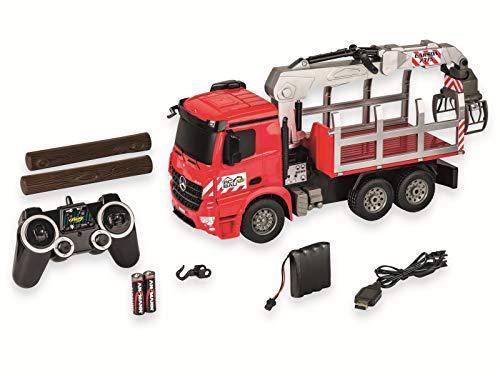 Carson 500907315 500907315-1:20 MB Arocs Holztransporter 100% RTR, Ferngesteuertes Fahrzeug, Baufahrzeug mit...