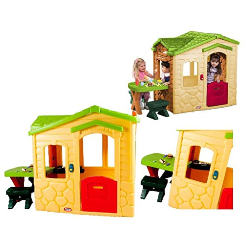 Little Tikes Gartenspielhaus - Gartenspielset - 20 Zubehörteile,...
