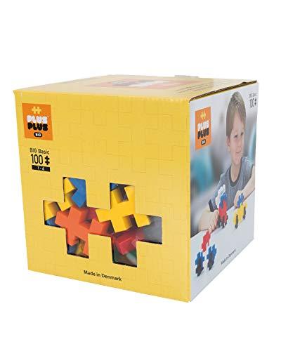 Plus-Plus 9603210 Geniales Konstruktionsspielzeug, Open Play Big Basic Mix, Bausteine-Set, 100 Teile