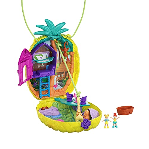 Polly Pocket GKJ64 - Ananas Tasche, tragbare Schatulle mit...