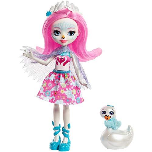 Enchantimals FRH38 - Schwanenmädchen Saffi Swan Puppe