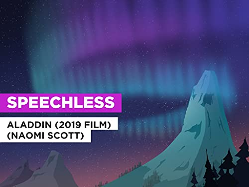 Speechless im Stil von Aladdin (2019 film) (Naomi Scott)