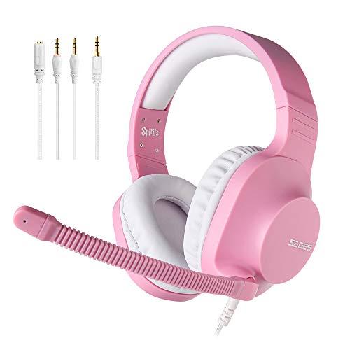 SADES Headset für Mädchen, Spirits Over-Ear-Stereo-Headset mit Mikrofon und Lautstärkeregelung, Y-Adapter,...
