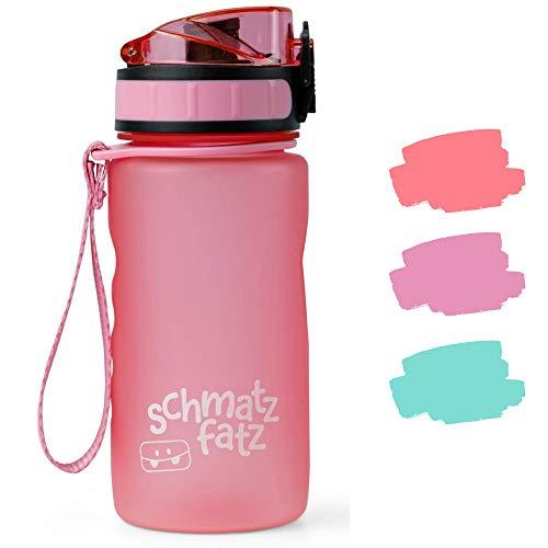 schmatzfatz auslaufsichere Sport Trinkflasche Kinder, BPA frei, 350ml,...