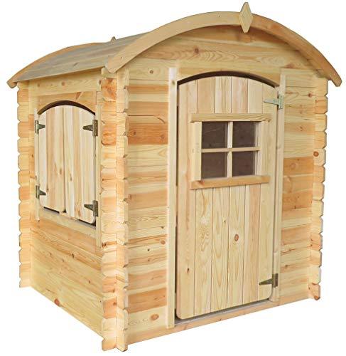 TIMBELA M505-1 Gartenhaus Kinder mit Holzboden - Spielhaus Garten Holz...