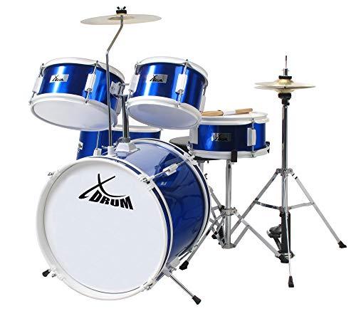 XDrum Junior Kinder Schlagzeug Drumset (geeignet von 5-9 Jahren, mit...