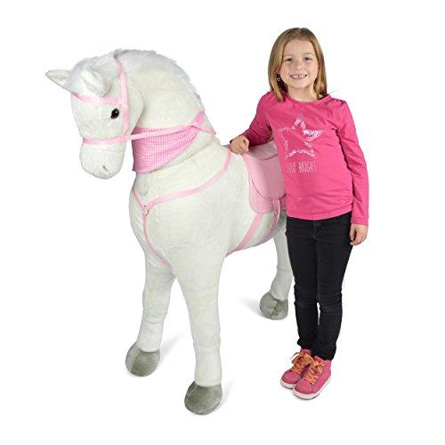 Pink Papaya Giant Riesen XXL Kinderpferd, Luna, 125 cm Plüsch-Pferd...