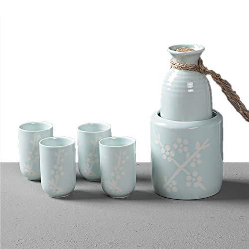 Sake-Set, japanische Geschenke, 6 Stück, handbemaltes Design,...