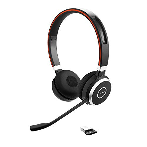 Jabra Evolve 65 Wireless Stereo On-Ear Headset -...